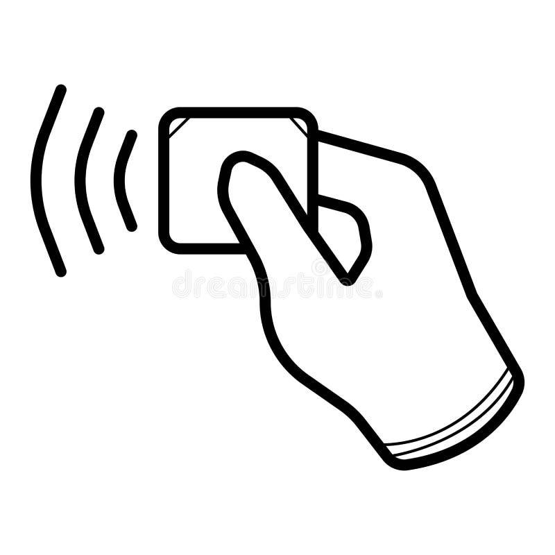 Безконтактная беспроводная оплата иллюстрация вектора
