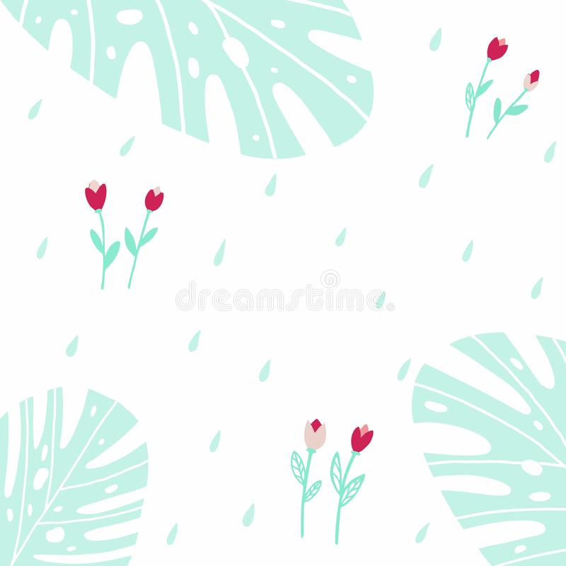 Безшовная предпосылка с тюльпанами и падениями бесплатная иллюстрация