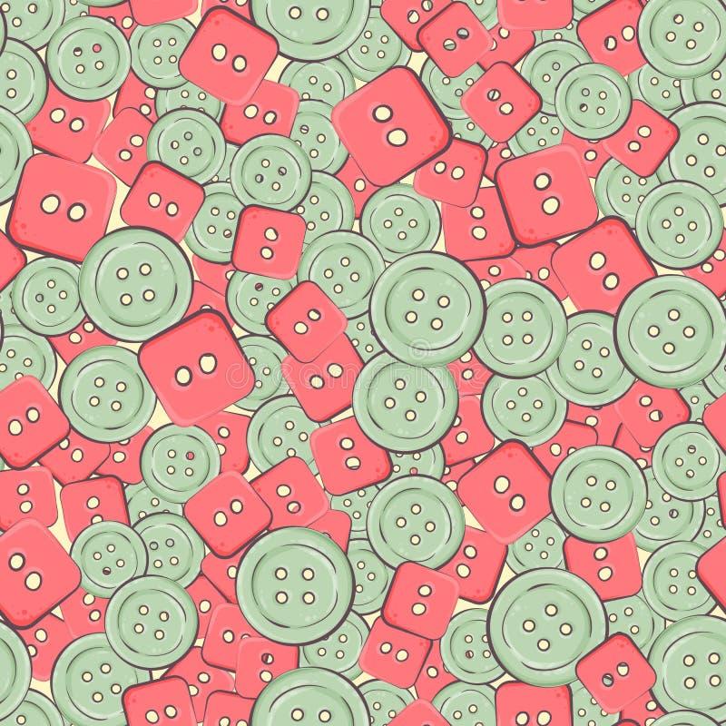 Безшовная предпосылка с цветастыми кнопками также вектор иллюстрации притяжки corel бесплатная иллюстрация