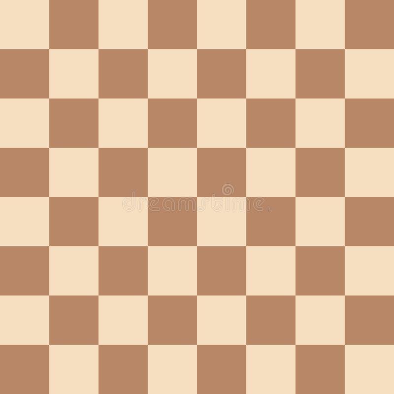 Безшовный современный коричневый цвет шахматной доски и русая иллюстрация вектора картины иллюстрация вектора