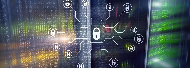 Безопасность кибер, защита данных, уединение информации Интернет и концепция технологии стоковые изображения
