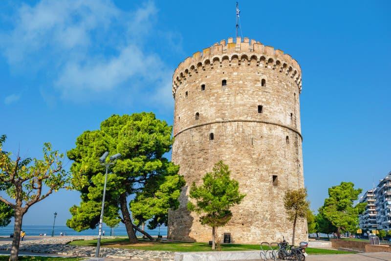 Белая башня Греция thessaloniki стоковые фотографии rf