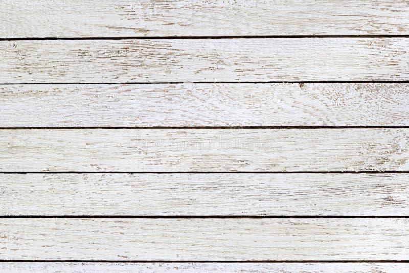 Белая деревянная предпосылка таблицы Взгляд сверху горизонтально скопируйте космос стоковые фотографии rf