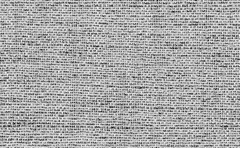Белизна крупного плана с черным или светлым - серый фон текстуры образца ткани цвета Темная серая линия прокладки дизайн ткани ка стоковое фото rf