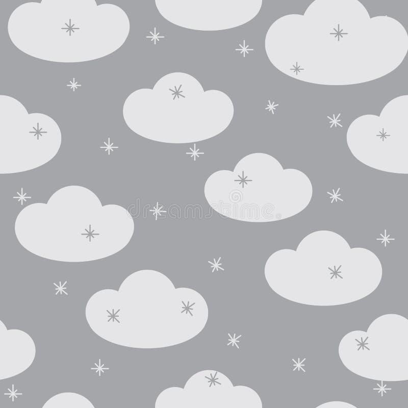 Белые облака на серой предпосылке бесплатная иллюстрация
