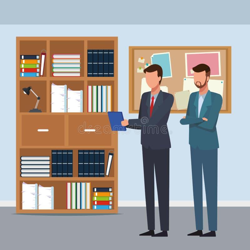 Бизнесмены объединяются в команду сотрудник безликий иллюстрация штока