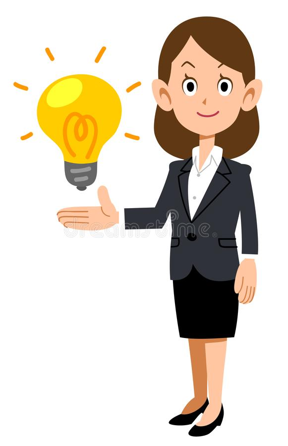 Бизнес-леди предлагая идею бесплатная иллюстрация