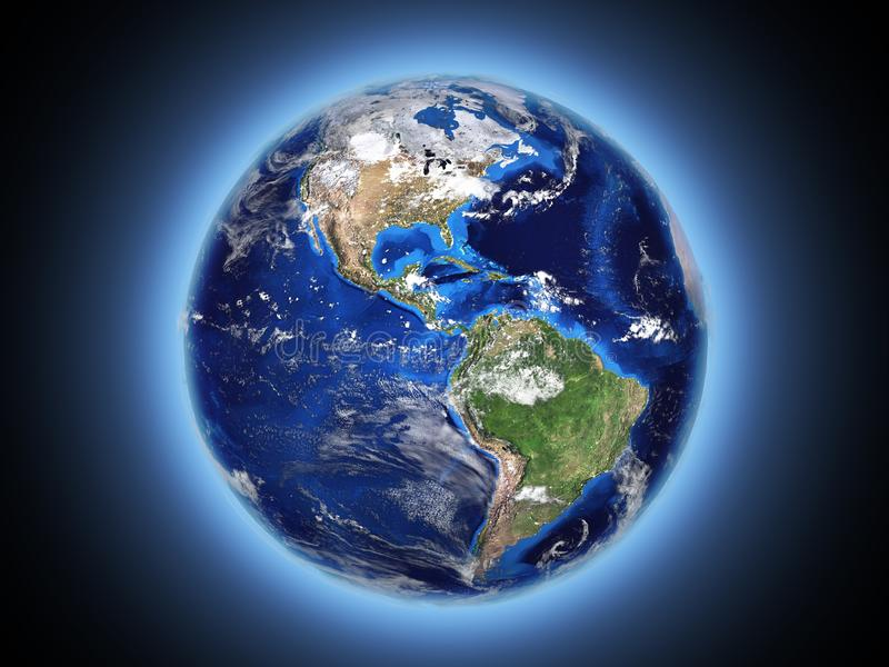 блески земли планеты в космосе 3d стоковые фото