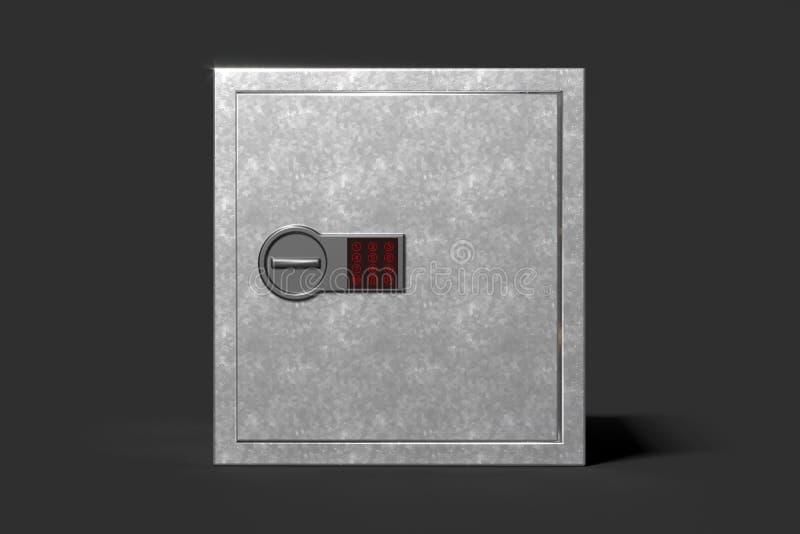 Близкий сейф денег на черной предпосылке Сейф денег наличных денег перевод 3d бесплатная иллюстрация