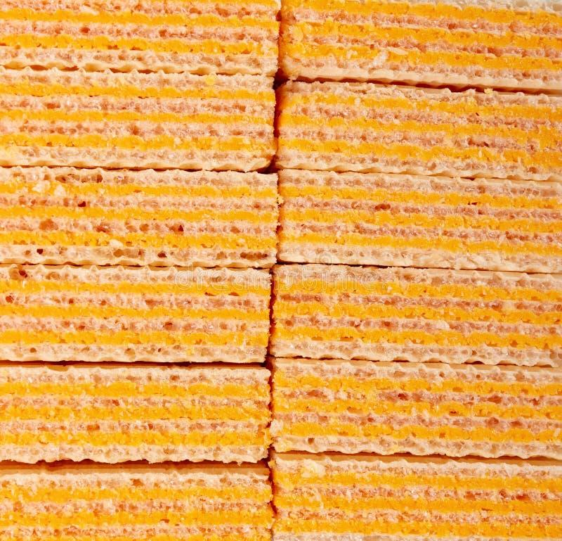 Блоки вафли сыра как предпосылка и текстура стоковые фото