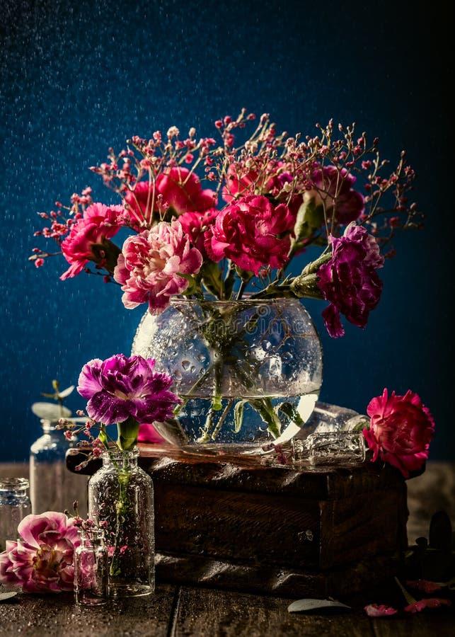Букет розовой гвоздики стоковое фото rf