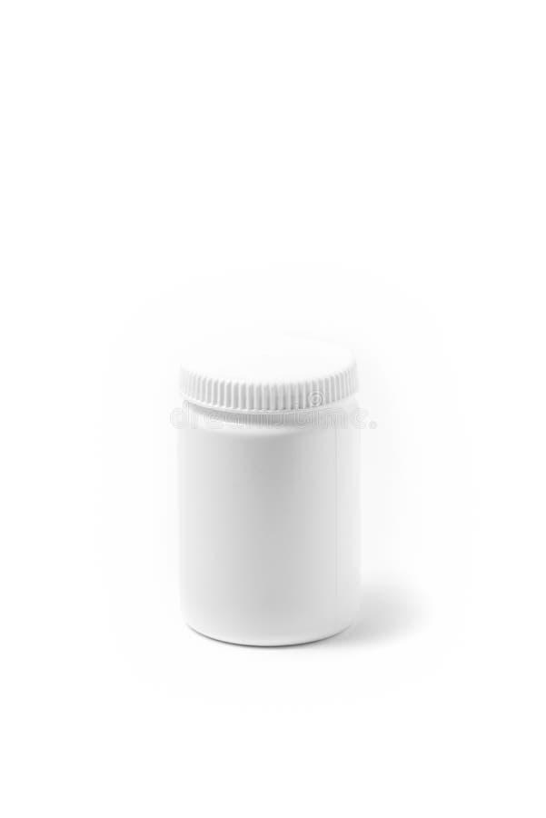 Бутылка таблетки медицины белая изолированная на белизне Лекарство, иллюстрация стоковые изображения rf