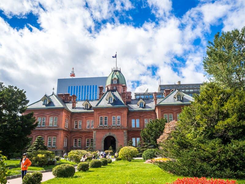 Бывшее офисное здание Akarenga Хоккаидо управляя Историческое здание на Саппоро, стоковые фото