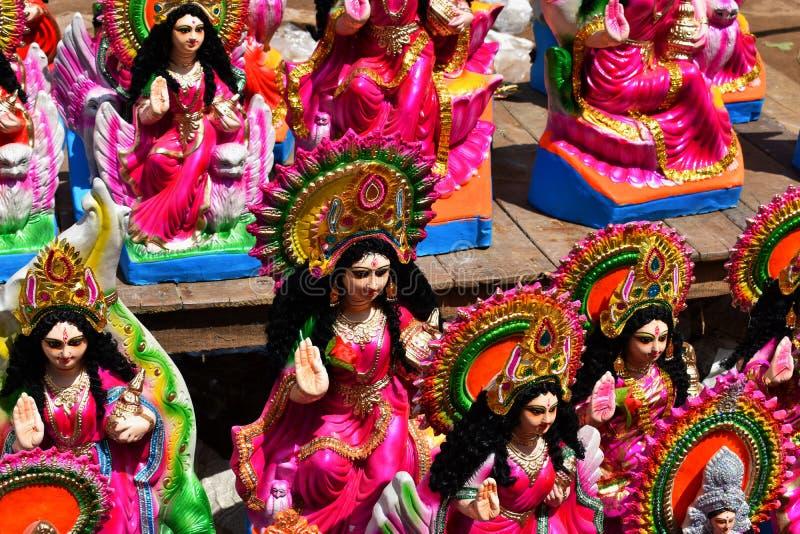 богиня Lakshmi, на витрине стойла улицы стоковые изображения rf