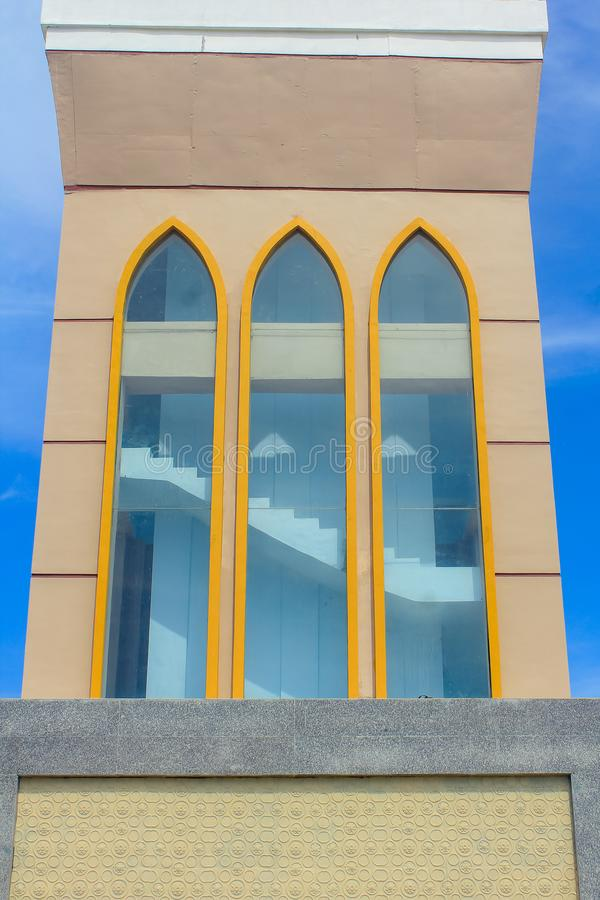 Большая мечеть Indramayu западной Ява Индонезии стоковое фото rf
