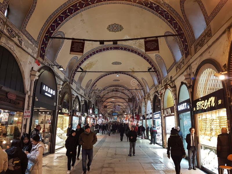 Большой благотворительный базар Стамбула в Турции стоковая фотография rf