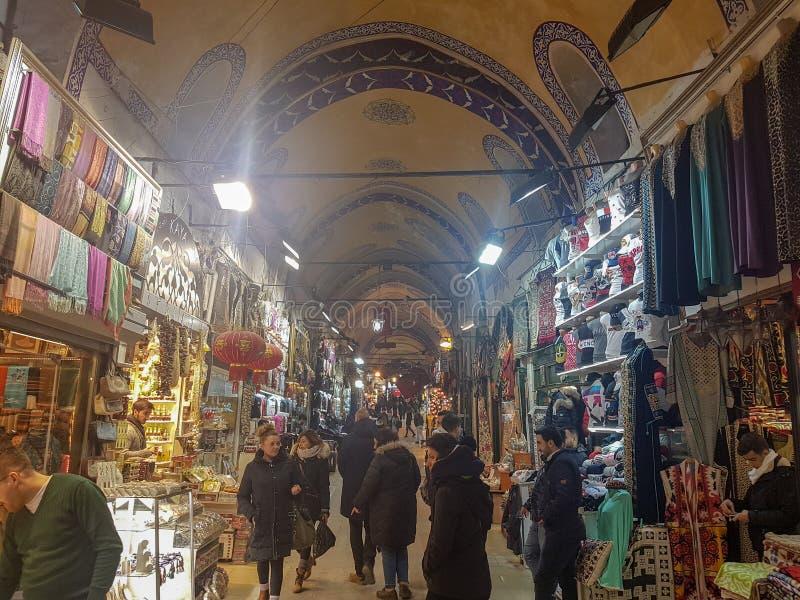 Большой благотворительный базар Стамбула в Турции стоковая фотография