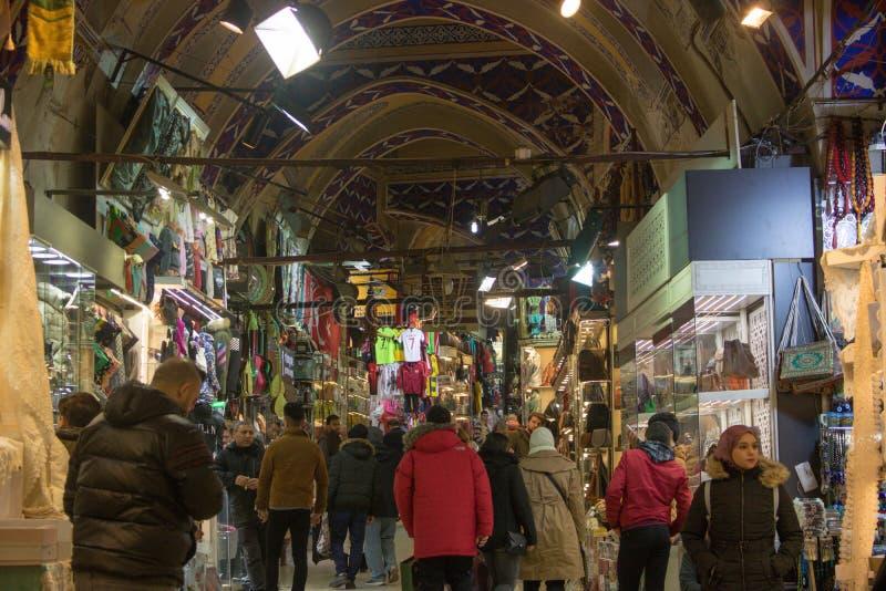 Большой благотворительный базар Стамбула в Турции стоковое изображение
