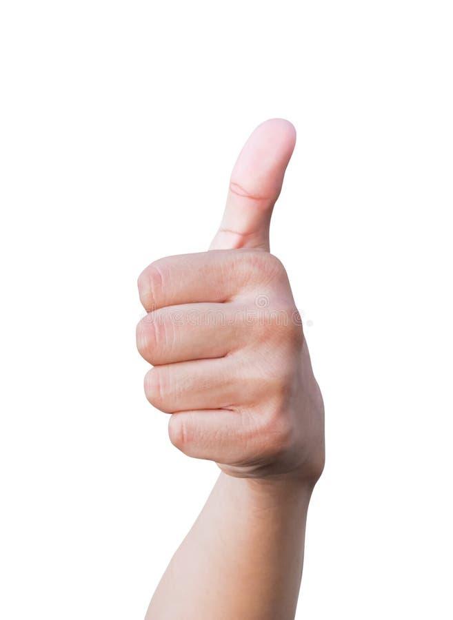 Большой палец руки руки вверх по символам показывая на белой предпосылке стоковое изображение rf