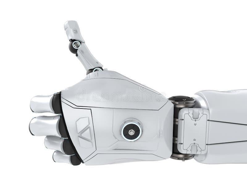 Большой палец руки робота вверх