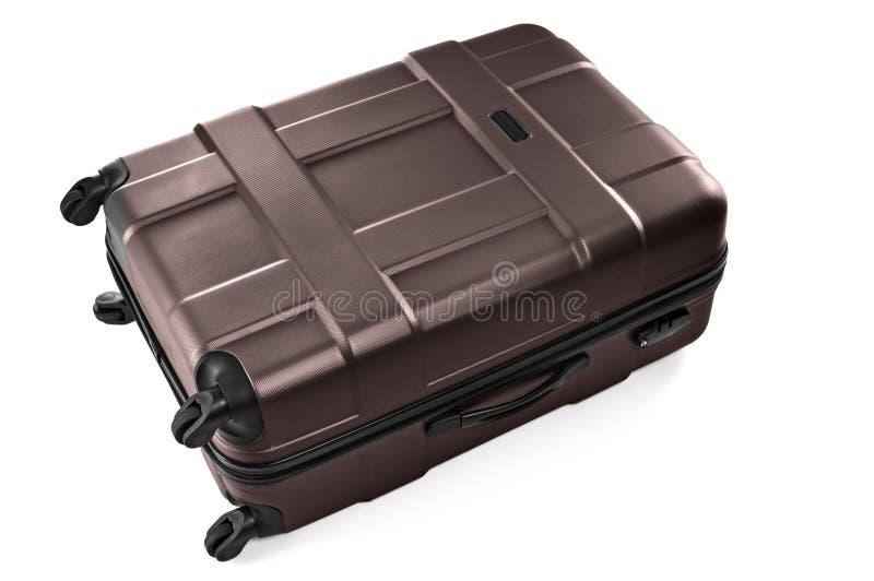 Большой серый чемодан стоковая фотография