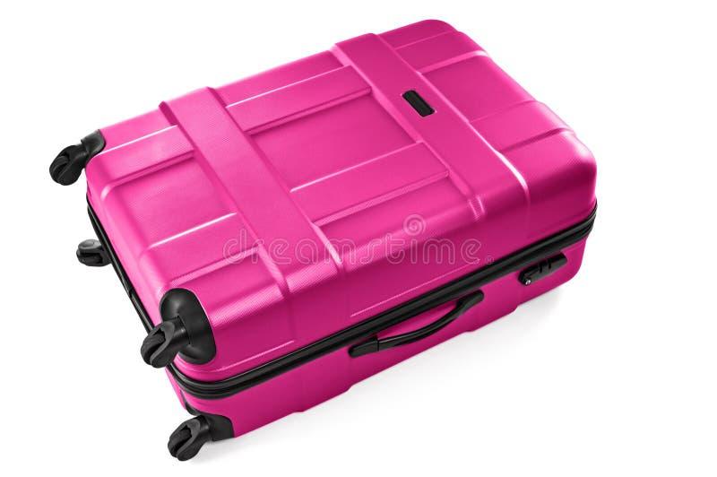 Большой серый чемодан стоковая фотография rf