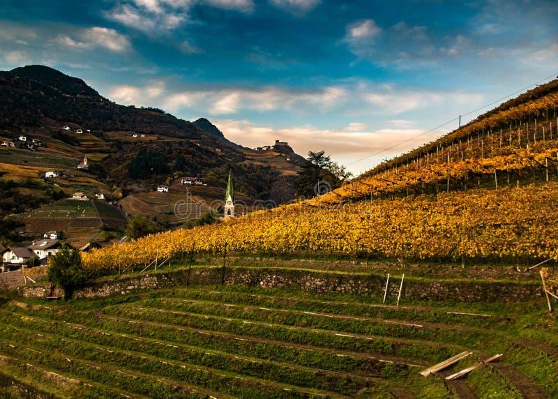 Больцано в доломитах, в Италии стоковое изображение
