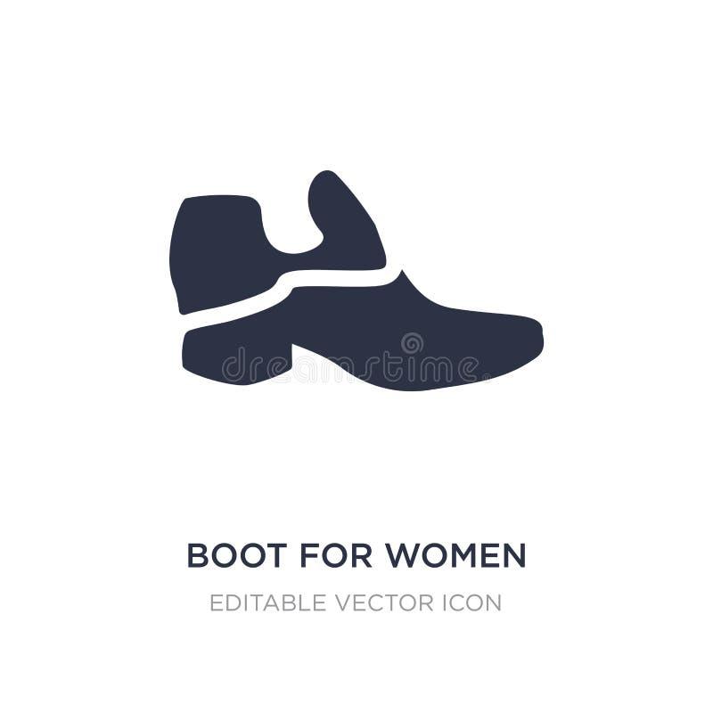 ботинок для значка женщин на белой предпосылке Простая иллюстрация элемента от концепции моды иллюстрация штока