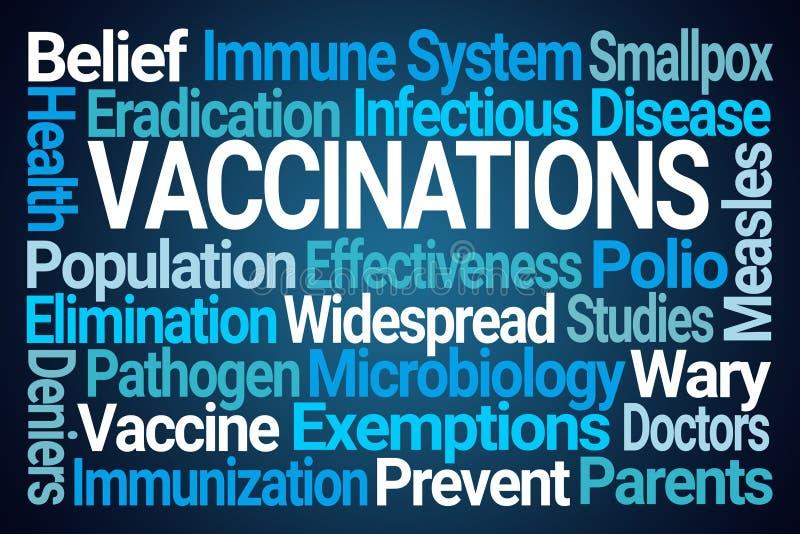 Вакцинирования формулируют облако иллюстрация вектора