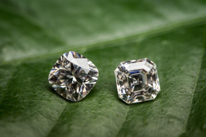Валик диамантов и формы Asscher стоковые фото