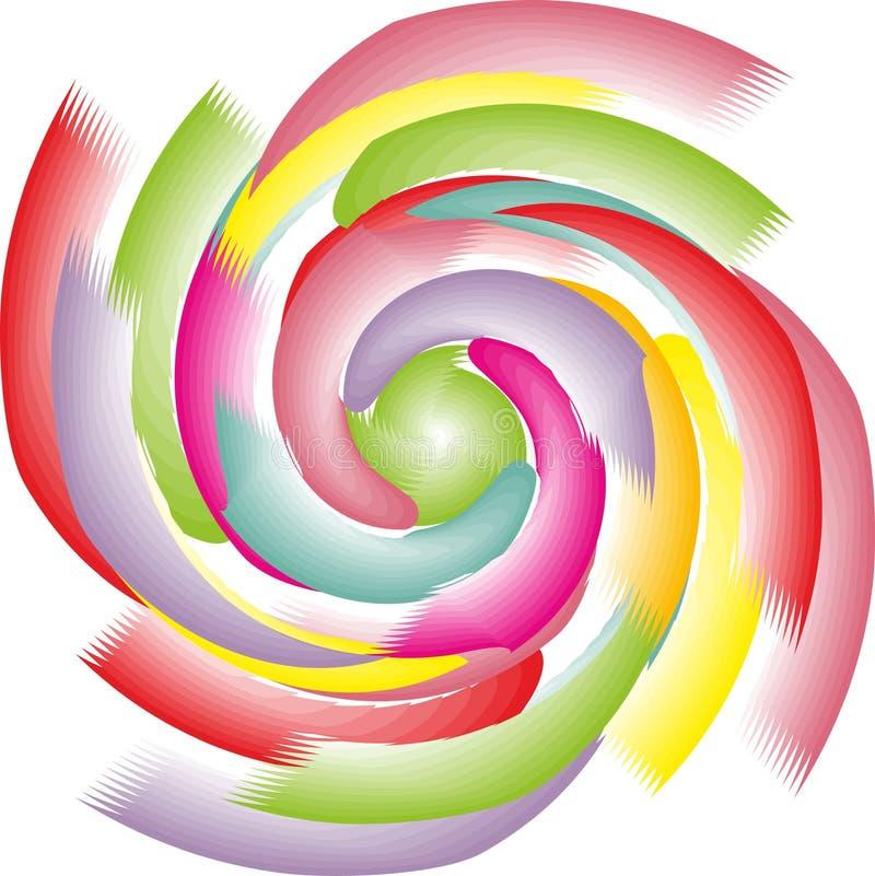 Векторная графика свирли круга предпосылки иллюстрация вектора