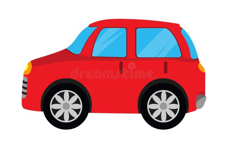 Вектор автомобиля Красная иллюстрация автомобиля иллюстрация штока