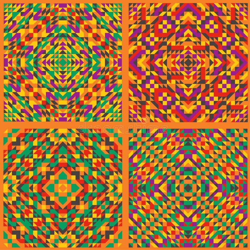 Вектор безшовный, геометрическая картина, орнамент мексиканской культуры Предпосылка, ткани, оформление искусства бесплатная иллюстрация