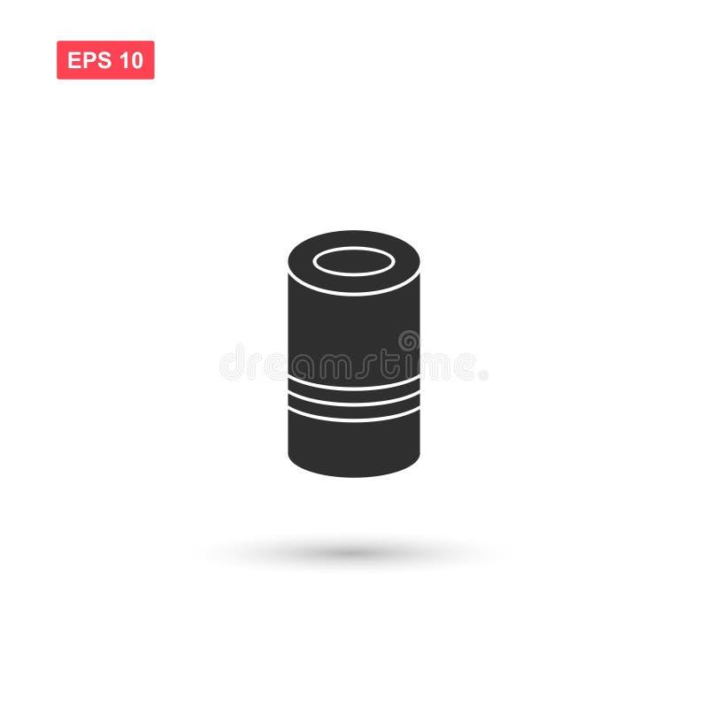 Вектор значка консервов изолировал 3 иллюстрация штока