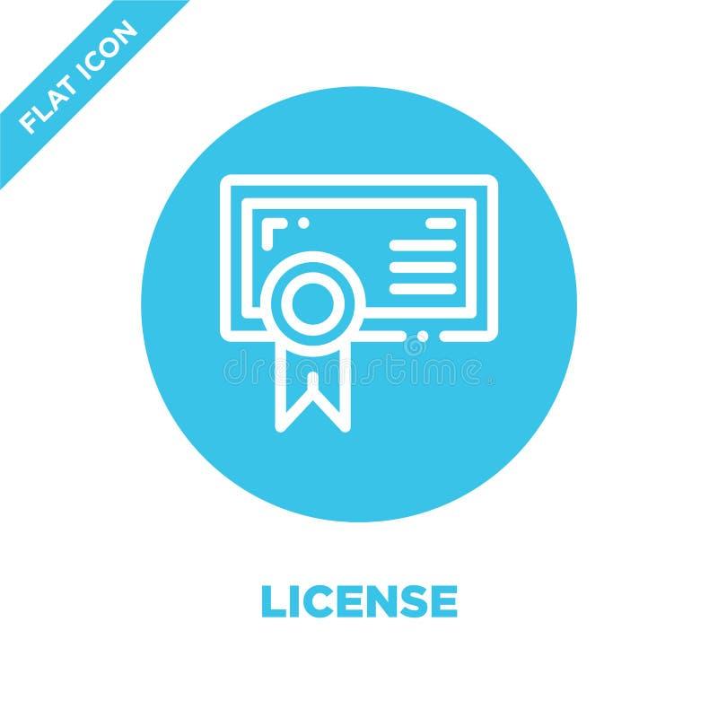 вектор значка лицензии Тонкая линия иллюстрация вектора значка плана лицензии символ лицензии для пользы на сети и мобильных прил бесплатная иллюстрация