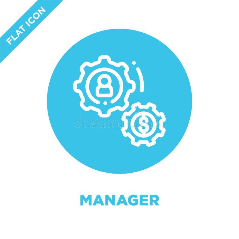Вектор значка менеджера Тонкая иллюстрация вектора значка плана руководителя среднего звена символ менеджера для пользы на сети и бесплатная иллюстрация