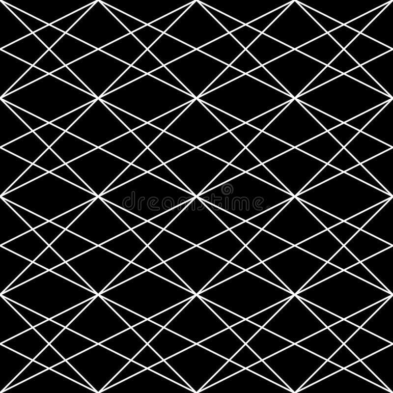 вектор картины безшовный Современная стильная абстрактная текстура Повторять геометрические плитки от striped элементов иллюстрация вектора