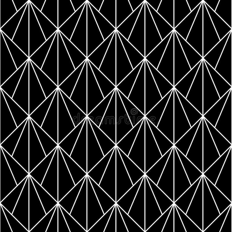 вектор картины безшовный Современная стильная абстрактная текстура Повторять геометрические плитки от striped элементов иллюстрация штока