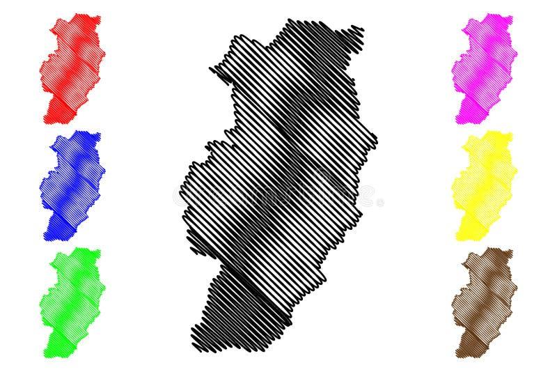 Вектор карты провинции Nan бесплатная иллюстрация