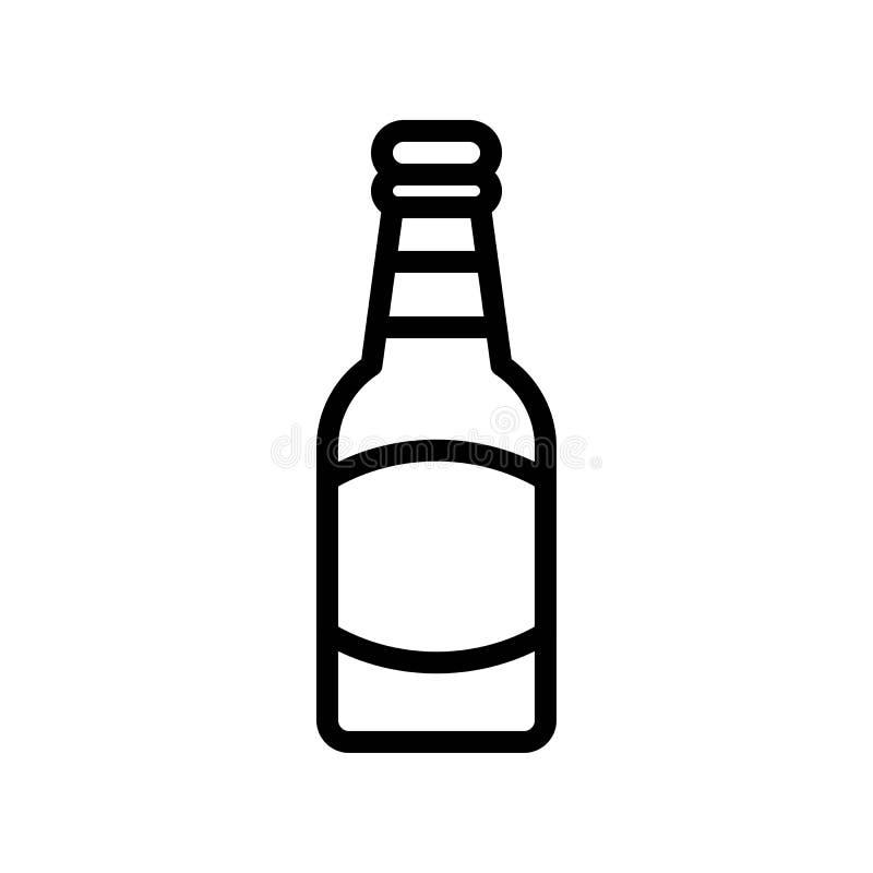 Вектор пивной бутылки, пиршество линии значка St. Patrick иллюстрация вектора