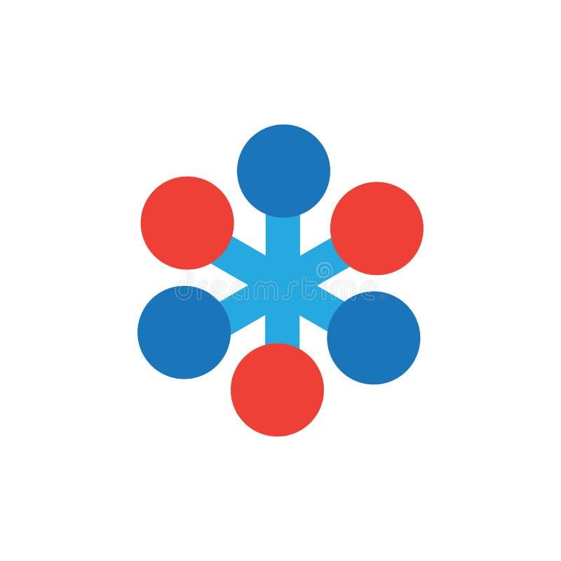 Вектор шаблона логотипа цепи иллюстрация штока