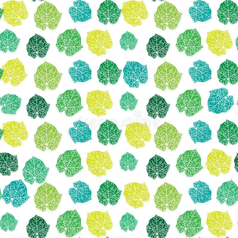 вектор цветастой картины листьев иллюстрации безшовный стоковое фото rf