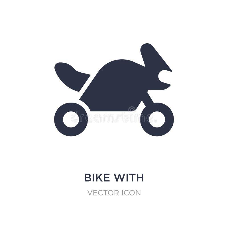 велосипед с мотором, значком интерфейса ios 7 на белой предпосылке Простая иллюстрация элемента от концепции перехода иллюстрация штока
