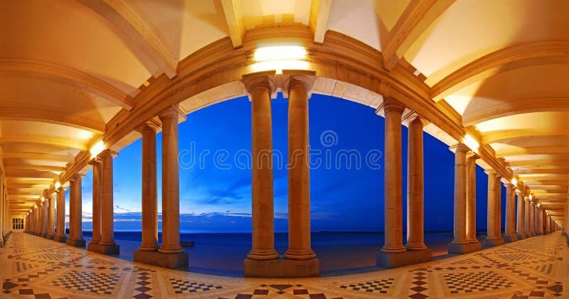Венецианская галерея в Остенде, Бельгии стоковая фотография