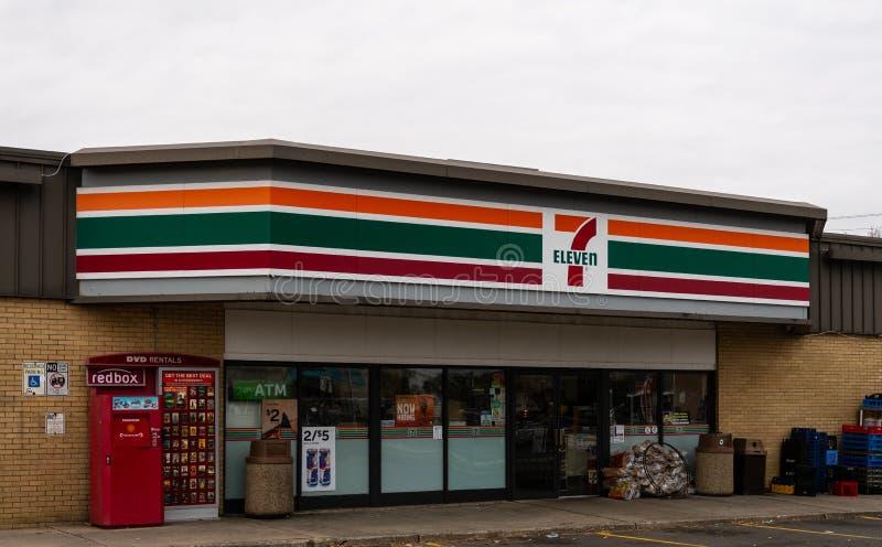 & ветвь 11 магазинов длинная стоковое изображение rf