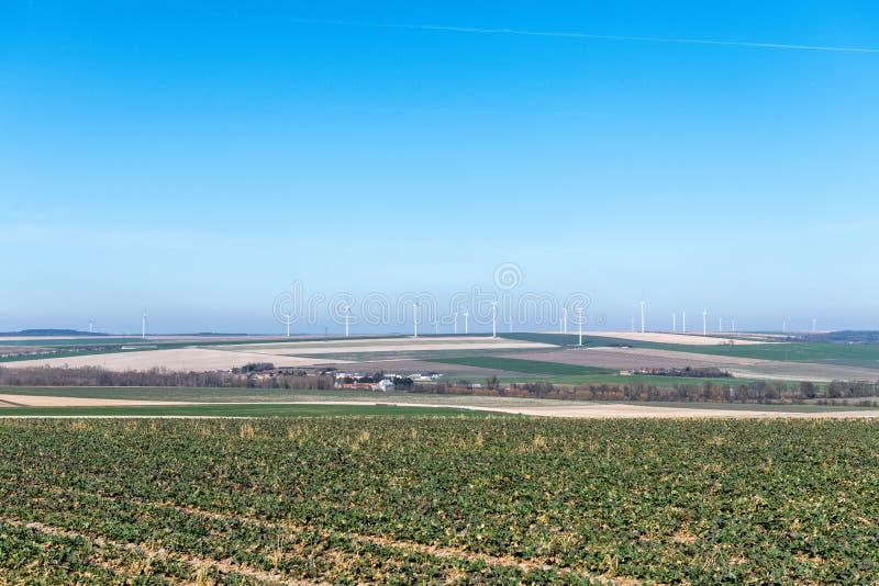 Ветротурбины на холме стоковая фотография