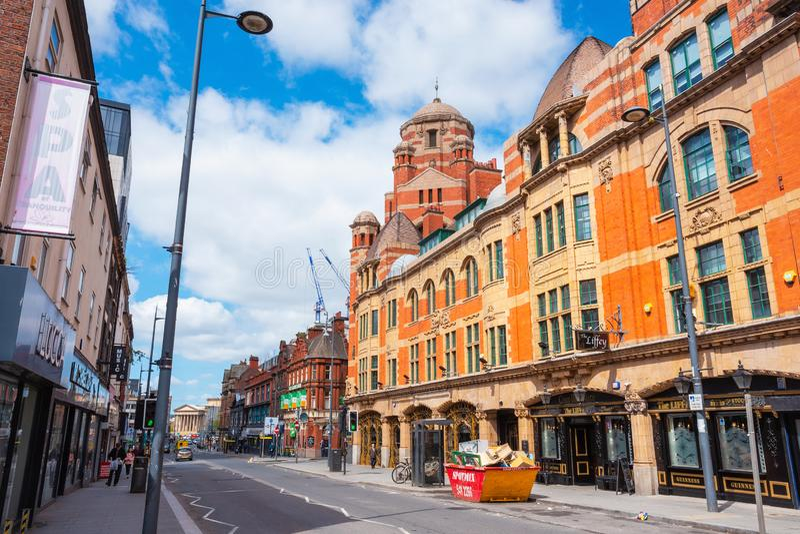 Взгляд архитектуры и здания центра города Ливерпуля стоковое фото