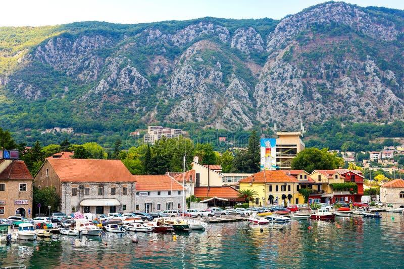Взгляд исторического города Kotor стоковое фото rf