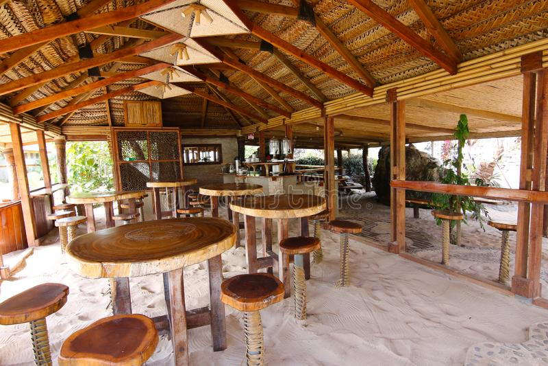 Взгляд курорта на острове островов Yasawa, Фиджи стоковое фото