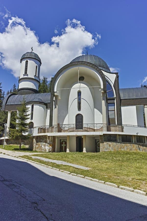 Взгляд лета лыжного курорта Pamporovo в горах Rhodope, Болгарии стоковые изображения rf